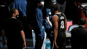 How can Brooklyn Nets cope with Harden's hamstring injury