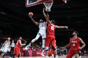 USA defeats Iran by a huge point difference of 120-66